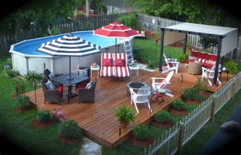 Small Backyard Above Ground Pool Ideas Pin By Cheryl Wilson Stafford On This N That Pinterest