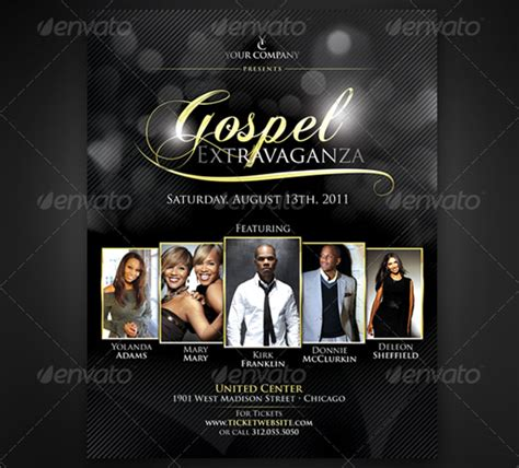 gospel flyer template 160 free and premium psd flyer design templates print