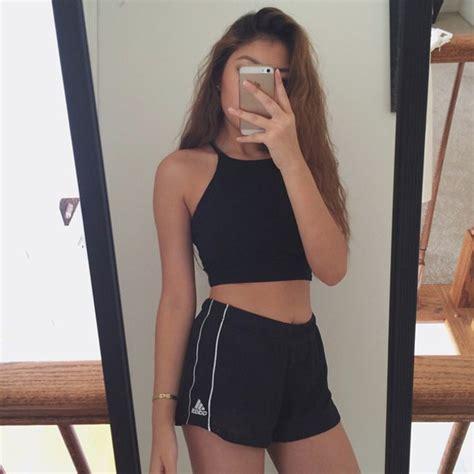 Jumper Singlet Mixed Colour shorts black style clothes shirt