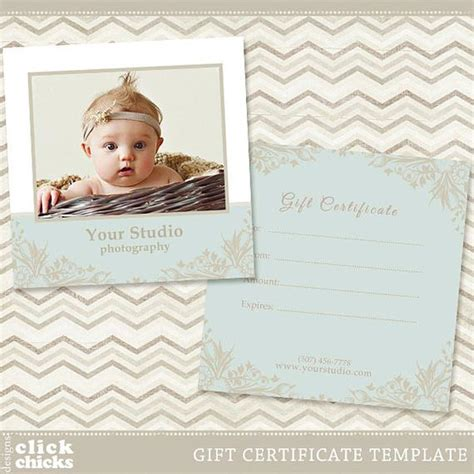 Photography Gift Certificate Template 004 By Clickchicksdesigns Photography Gift Certificate Template
