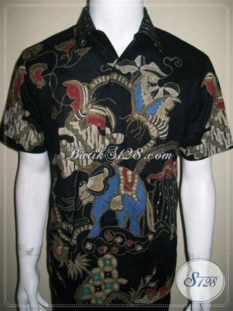 Baju Batik Hitam baju batik tulis pria lengan pendek warna hitam motif kontemporer ld312t m toko batik