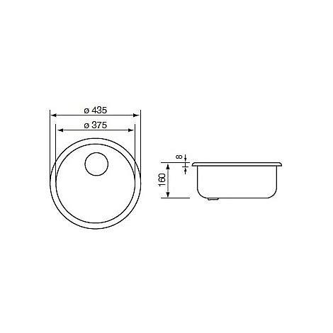 lavello rotondo cm cinzia lavello rotondo con sifone 1 via 45 cm satinato
