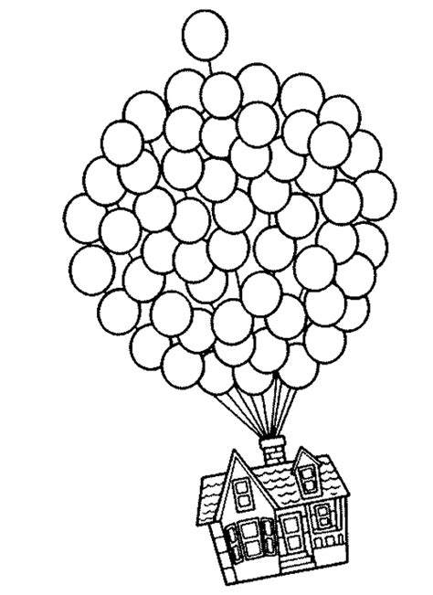 Coloring Page Up House by Up Coloring Pages