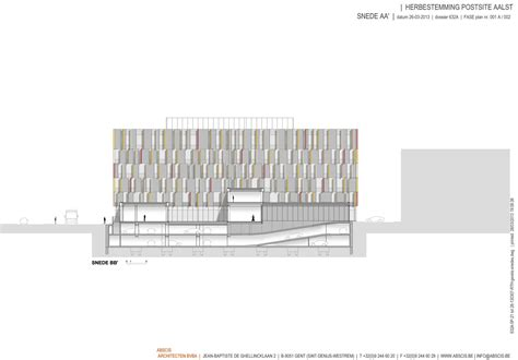 f section gallery of post site aalst abscis architecten 16