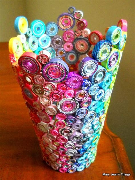 Useful Things To Make Out Of Paper - beautiful vase made news paper construction paper and