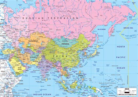 big map of asia large asia map mexico map