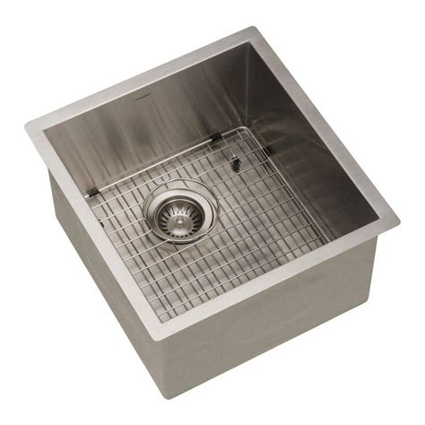 Stainless Steel Prep Sinks by Houzer Contempo Series Undermount Stainless Steel 17 In