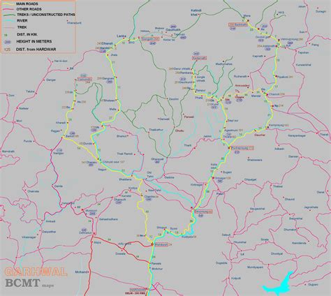 distance road map uttaranchal road map with distance