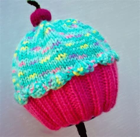 cupcake knitted hat pattern free 6 knitted cupcake hat patterns the funky stitch