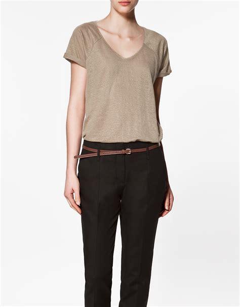 Zara Basic Shirt zara basic t shirt in lyst