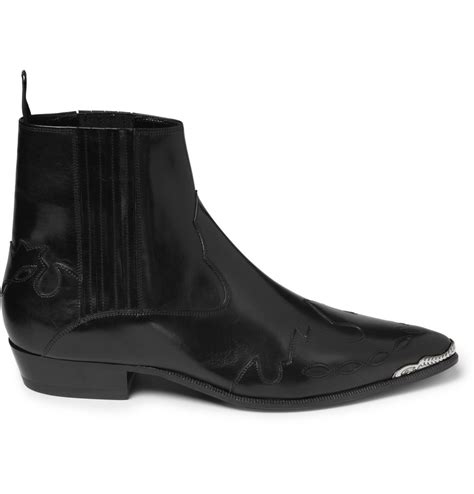 laurent mens chelsea boots laurent patterned leather chelsea boots in