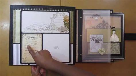 tutorial album scrapbooking español wedding mini album retrospection 365 part one youtube