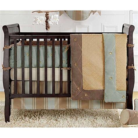bed bath and beyond logan utah buy bananafish 174 logan crib bumper in brown gold from bed