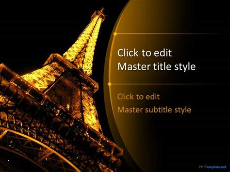 free paris eiffel tower ppt template