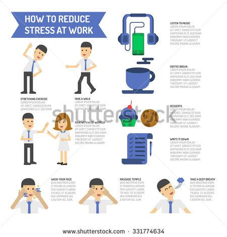 7 Ways To Reduce Stress At The Office how reduce stress work stock vector 331774634