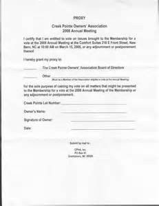 proxy voting form template hoa proxy form free printable documents