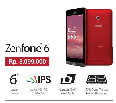 Hp Asus Zenfone 5 Dan 6 spesifikasi dan harga asus zenfone 6 kliksayang
