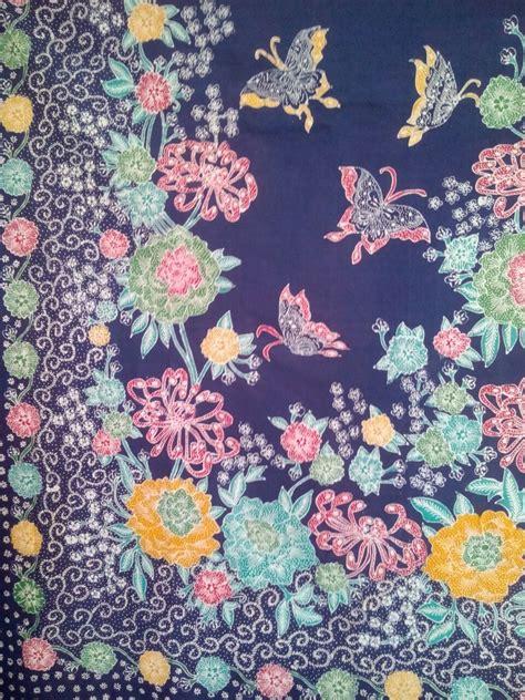 Kain Batik Tulis Warna 02 00724 Batik Tulis Halusan Madura Motif Kupu Kupu Jual Batik