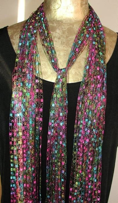 pattern for trellis yarn scarf the latest trend ribbon scarves ribbon necklaces yarn