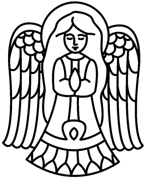 coloring pictures of christmas symbols simple angel pictures cliparts co