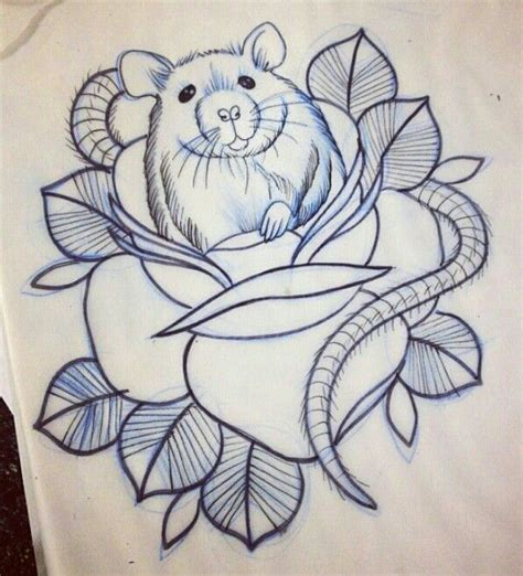 rat tattoo pinterest old style rat in rose tattoo tattoo inspiration