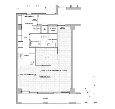 japanese apartment floor plan gallery of tsukiji room h yuichi yoshida associates 12