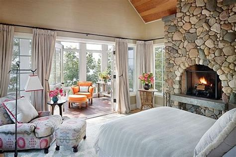 lake house bedroom decorating ideas lake house bedroom with fireplace and colorful reading