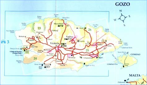 printable road map of malta large road map of north malta north malta large road map