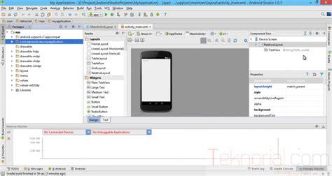 tutorial android studio dasar cara dasar membuat aplikasi untuk pemula menggunakan
