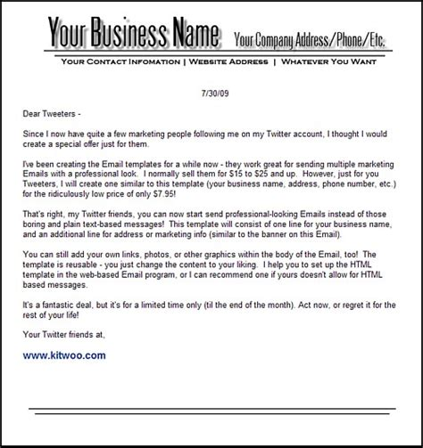 Business Letter Header And Footer Free Templates Forms Header Business Letter Template