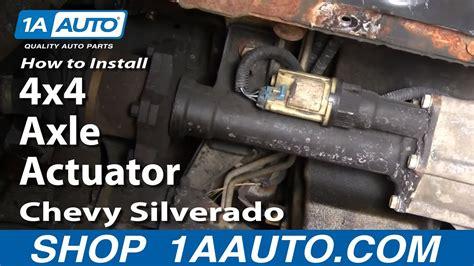 install replace  axle actuator chevy silverado