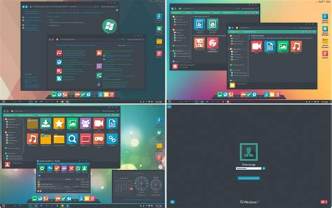 themes for windows 7 skin pack skinpack flaty win7 by alexgal23 on deviantart