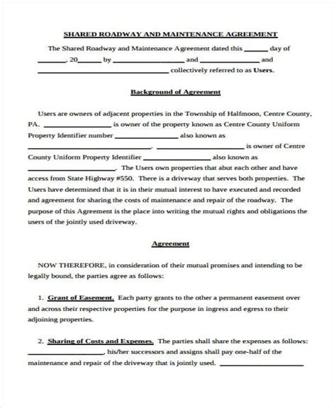 Property Maintenance Agreement by Property Maintenance Contract By Maintenance Contracts 9 License Agreement Form Sles Free