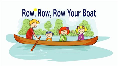 row row row your boat with lyrics and action row row row your boat lyrics song youtube