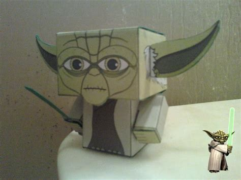 Yoda Papercraft - yoda cubee finished by rubenimus21 on deviantart
