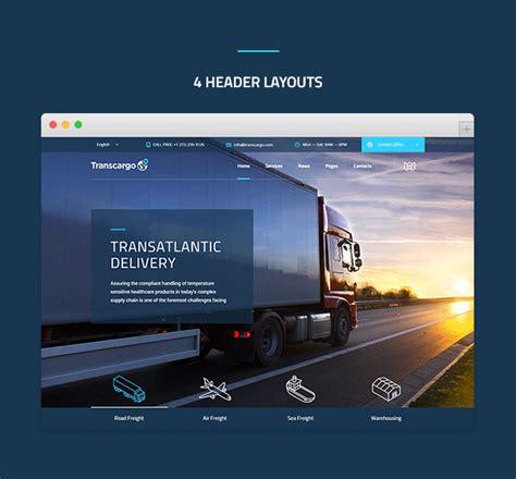 wordpress themes logistics free transcargo transport wordpress theme for transportation