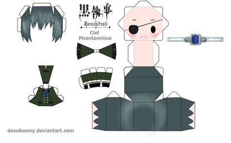 Anime Papercraft Printable - kuroshitsuji ciel papercraft by tsunyandere on deviantart