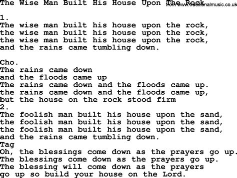 the wise man built his house upon the rock wise man built his house upon the rock bing images