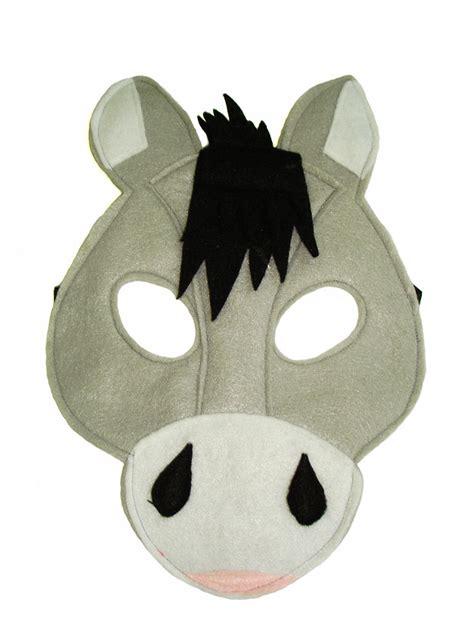 printable animal masks donkey children s farm barnyard animal donkey felt mask magical