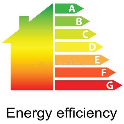 house energy efficiency energy efficiency rating and house stock photography