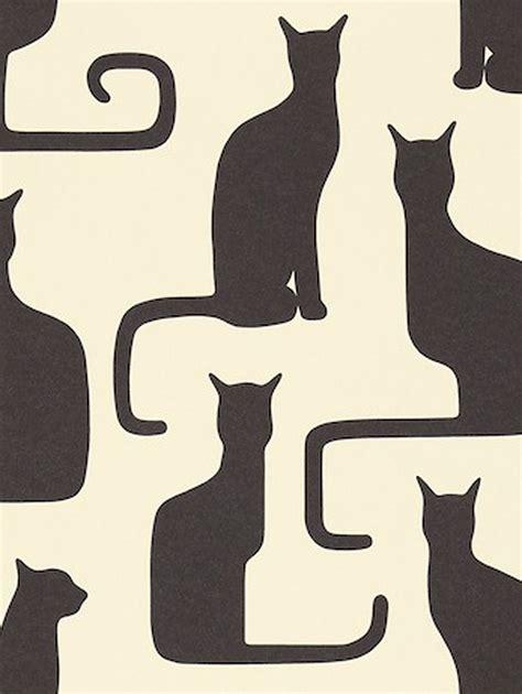 cat wallpaper john lewis sanderson omega cats wallpaper ivory black 211065