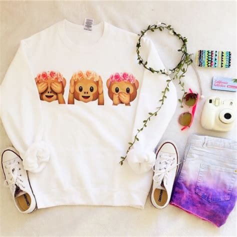 Blouse Girly Hat 65 emoji sweaters