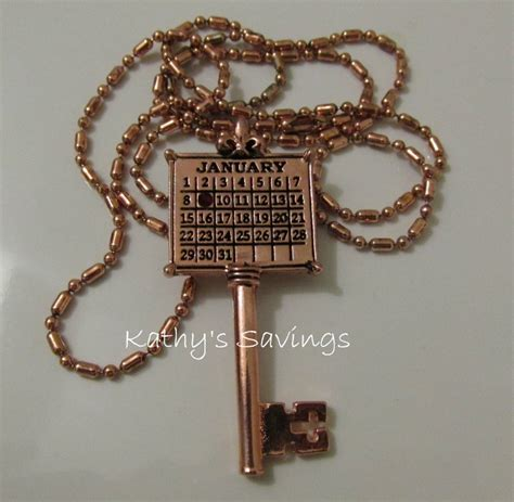 your special day gold calendar key necklace review