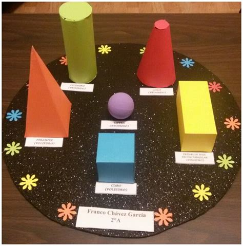 figuras geometricas hechas con material reciclable maqueta de figuras geometricas maquetas escolares
