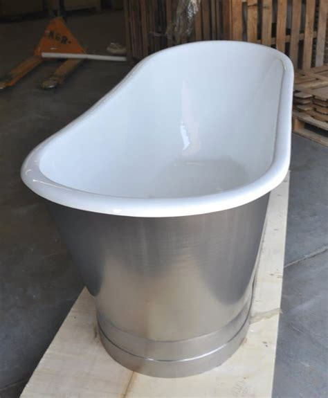 steel bathtubs 67 quot cast iron double ended stainless steel slipper