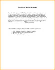 Writing A Power Of Attorney Letter by 7 Sle Letter Granting Power Of Attorney Ledger Paper