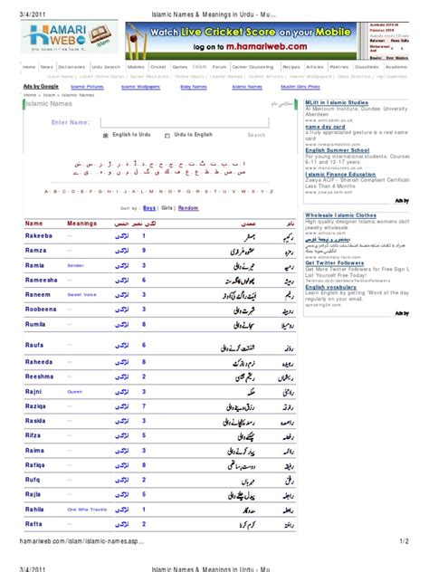 Crib Meaning In Urdu by Islamic Names Meanings In Urdu Muslim Boys Muslim