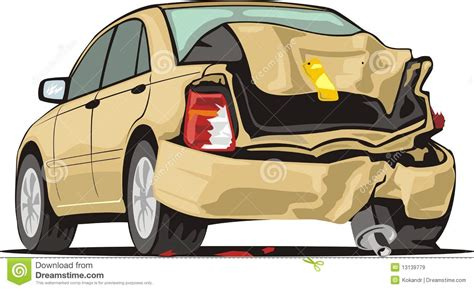 wrecked car clipart crash car royalty free stock images image 13139779