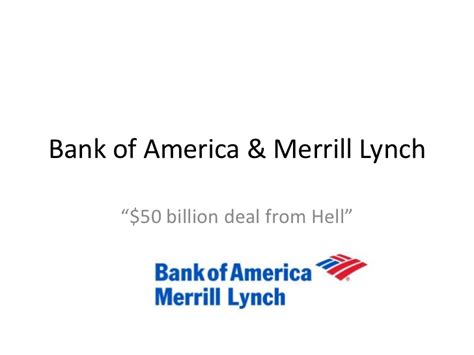 bof a and merrill lynch presentation