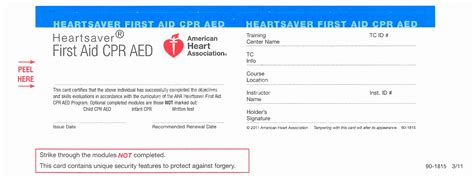 American Association Heartsaver Cpr Card Template by 12 Aha Cpr Card Template Wptej Templatesz234
